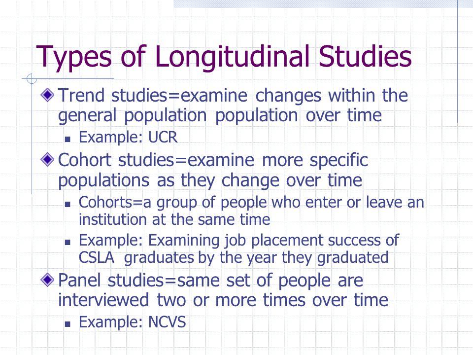 Types of Longitudinal Studies