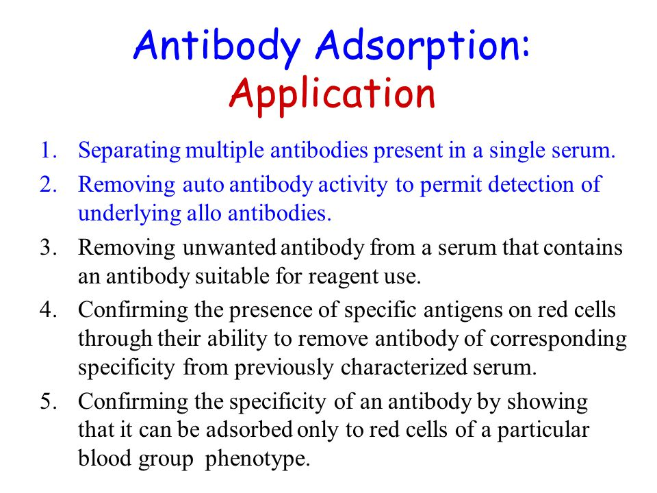 Antibody Adsorption: Application