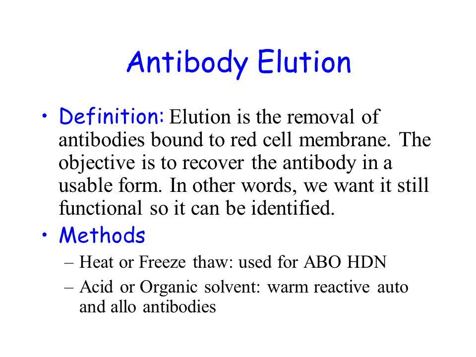 Antibody Elution