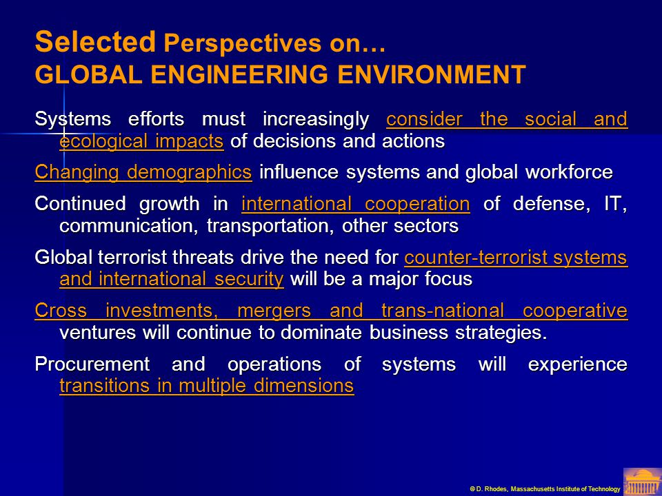 Selected Perspectives on… GLOBAL ENGINEERING ENVIRONMENT