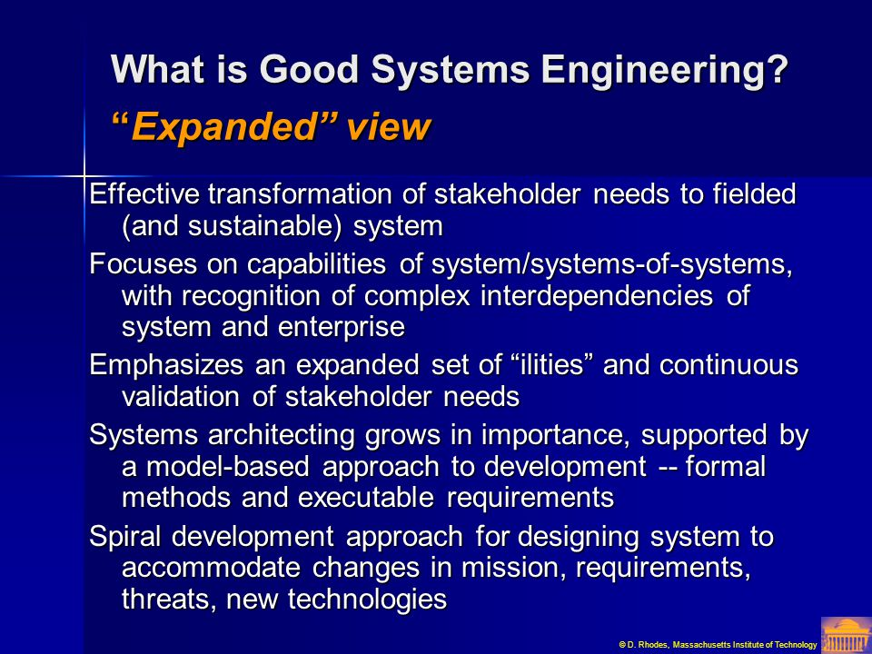 What is Good Systems Engineering Expanded view