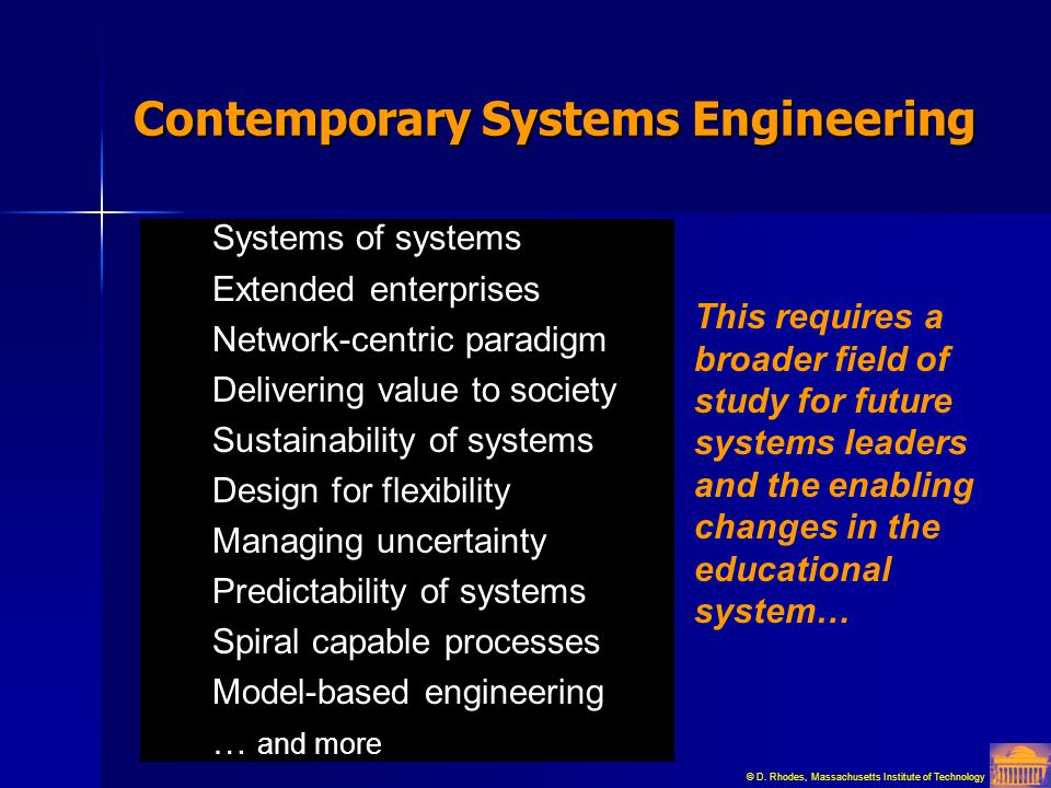 Contemporary Systems Engineering