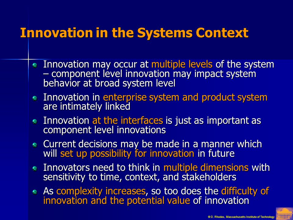 Innovation in the Systems Context