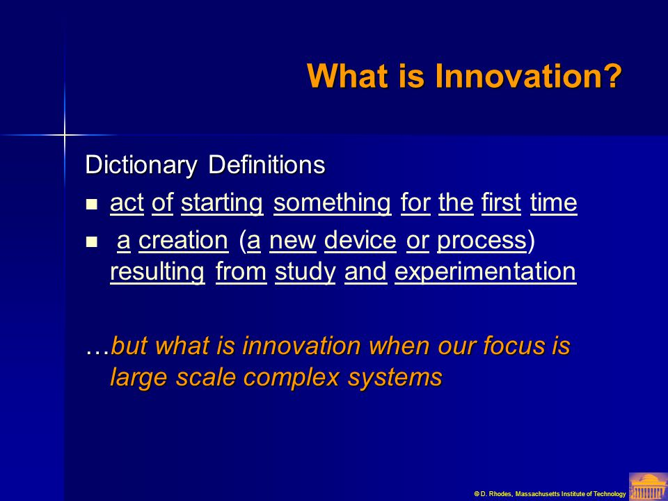 What is Innovation Dictionary Definitions