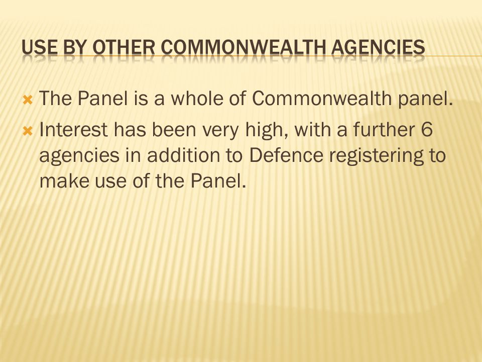 Use by other commonwealth agencies
