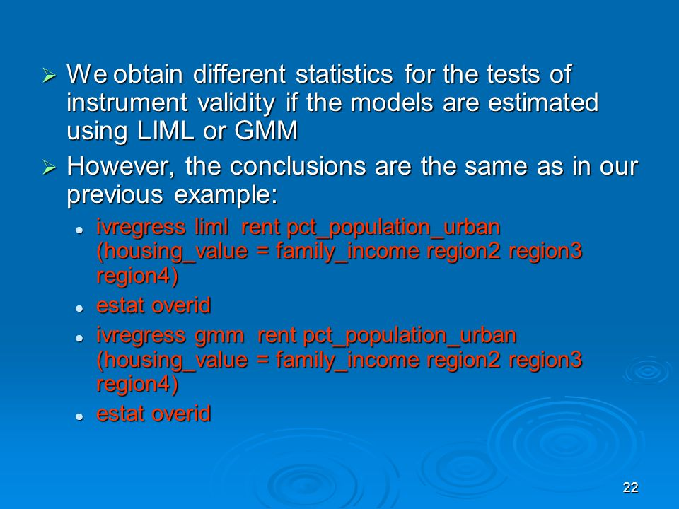 However, the conclusions are the same as in our previous example: