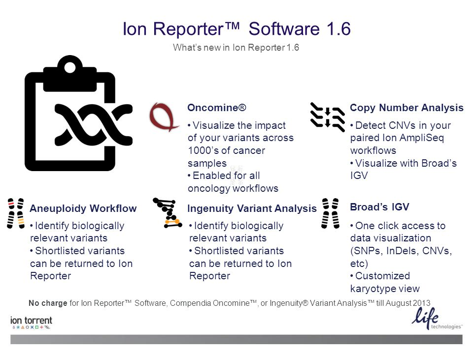 Ion Reporter™ Software 1.6