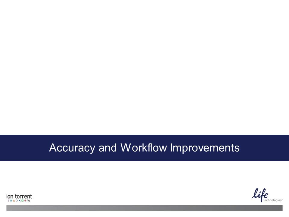 Accuracy and Workflow Improvements