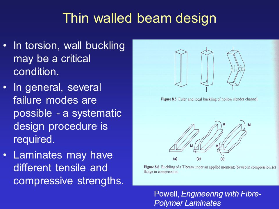 Thin walled beam design