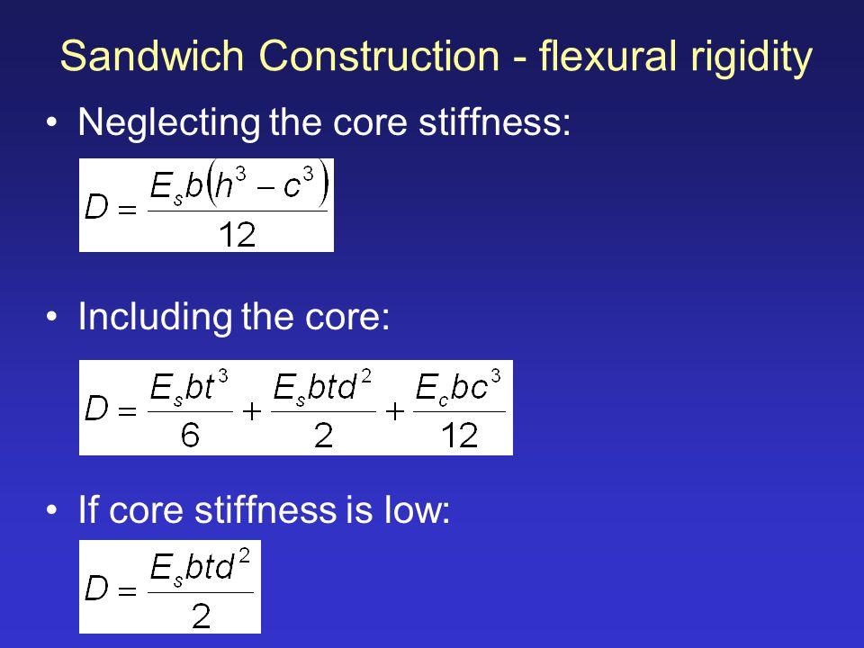 Sandwich Construction - flexural rigidity
