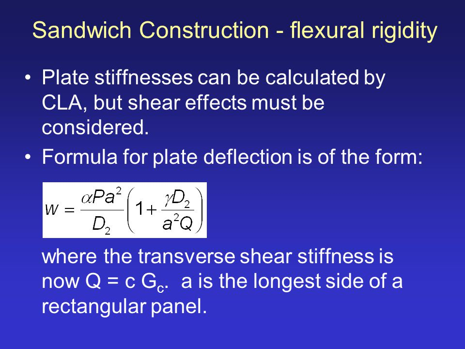 Sandwich Construction - flexural rigidity