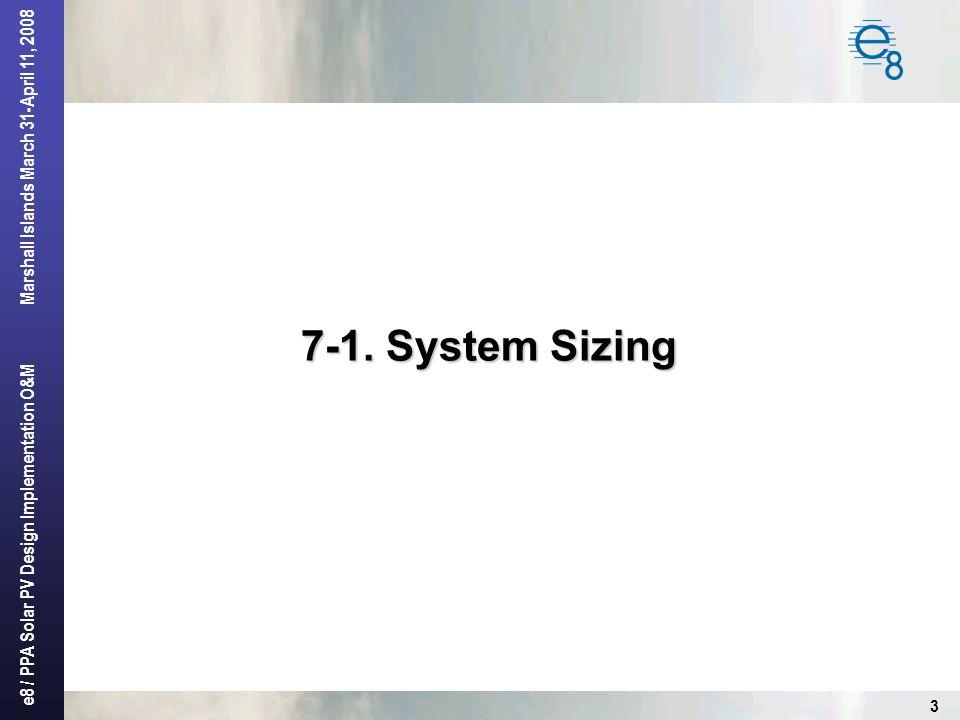 7-1. System Sizing
