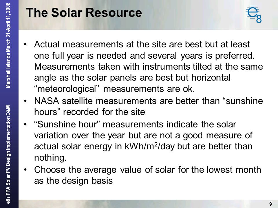 The Solar Resource