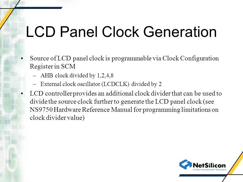 LCD Panel Clock Generation