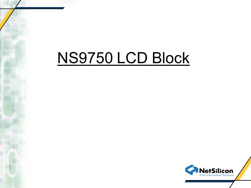 NS9750 LCD Block