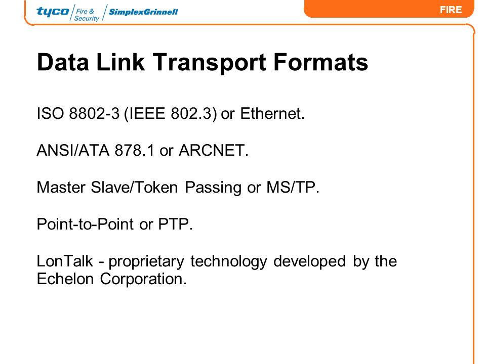 Data Link Transport Formats