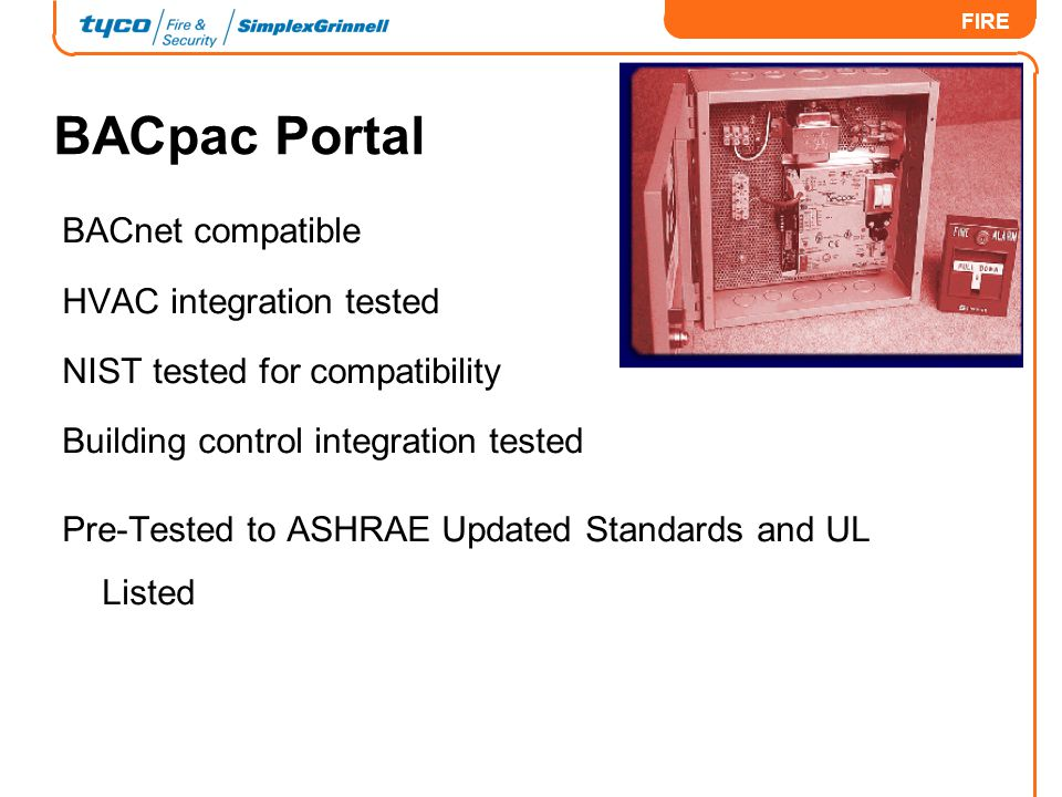 BACpac Portal BACnet compatible HVAC integration tested
