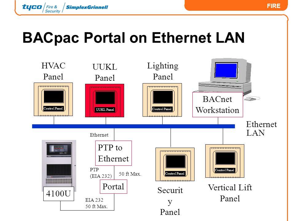 BACpac Portal on Ethernet LAN