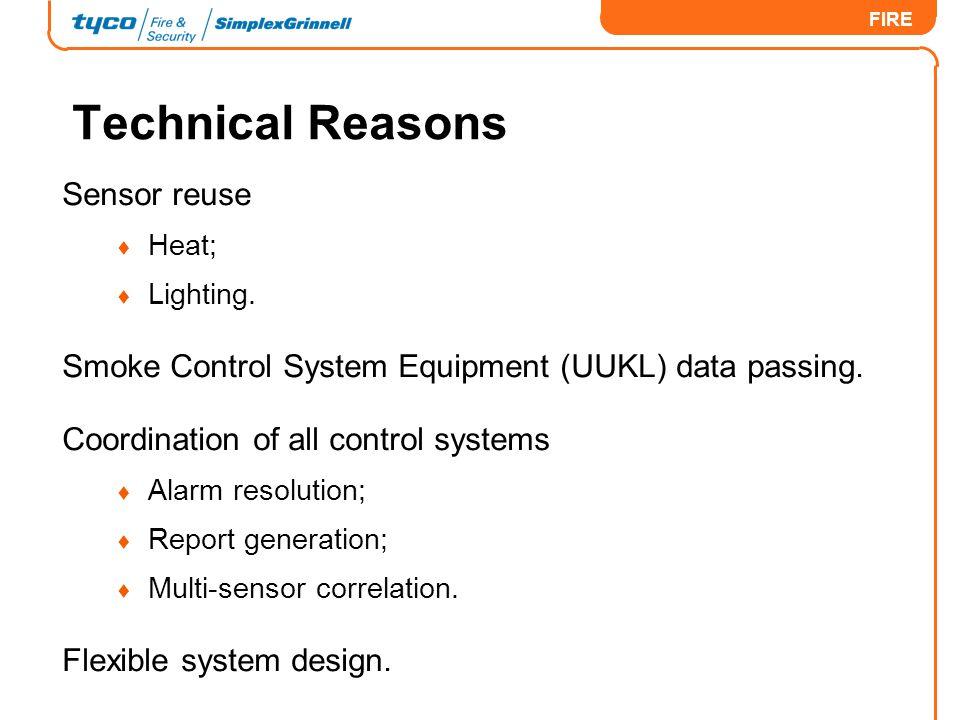 Technical Reasons Sensor reuse