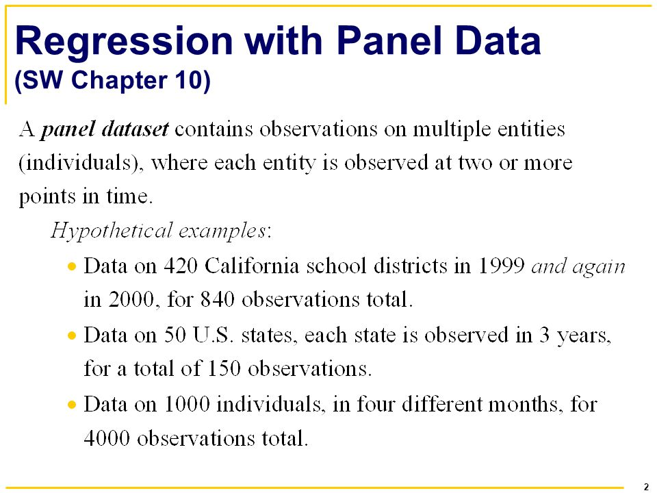 Regression with Panel Data (SW Chapter 10)