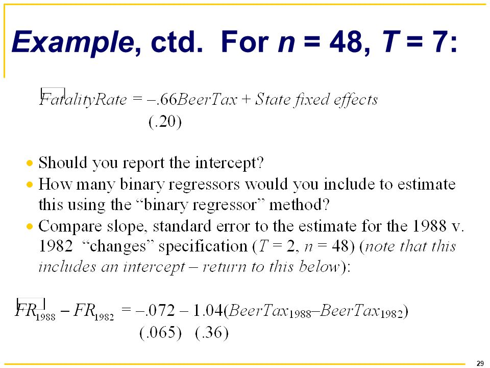 Example, ctd. For n = 48, T = 7: