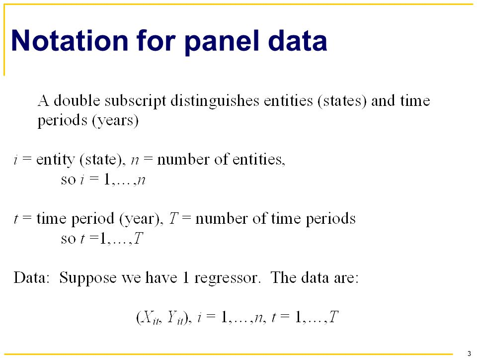 Notation for panel data
