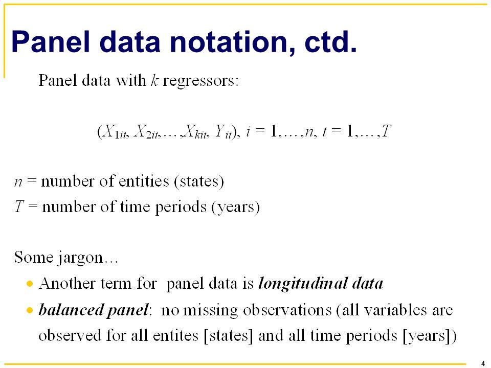 Panel data notation, ctd.
