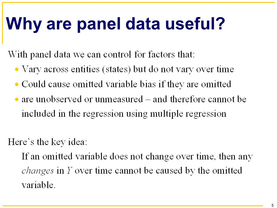 Why are panel data useful