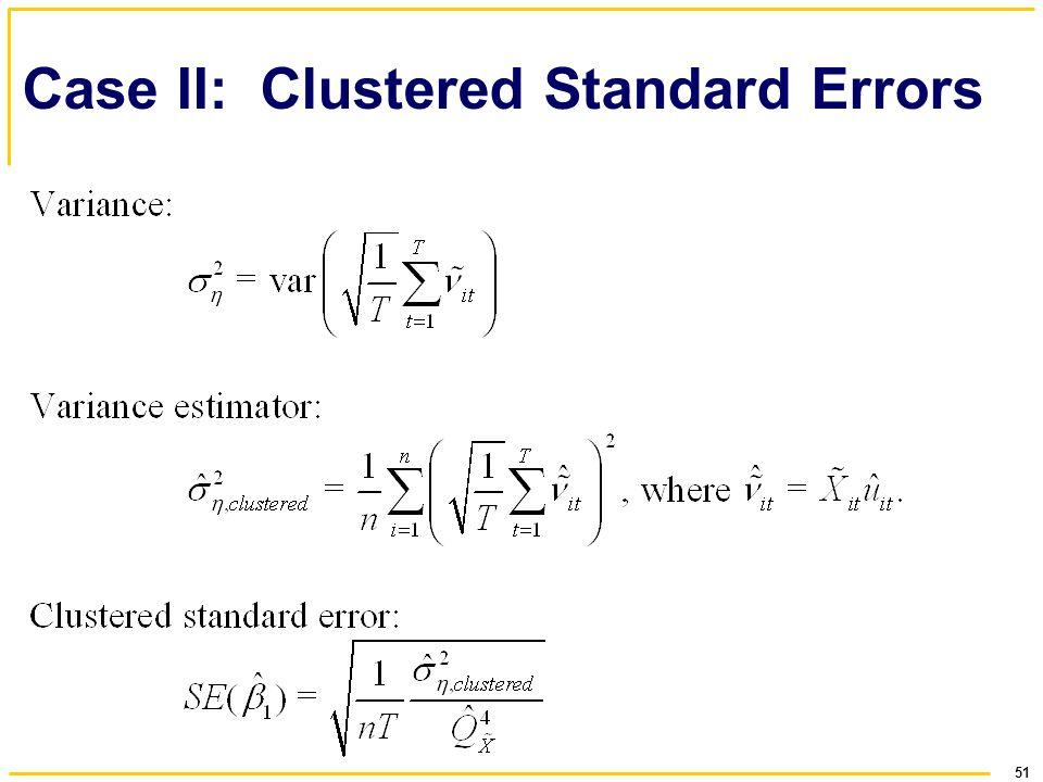 Case II: Clustered Standard Errors