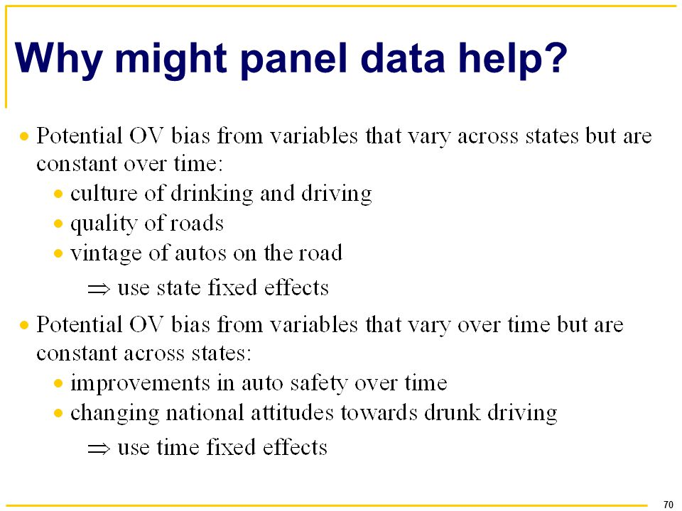 Why might panel data help