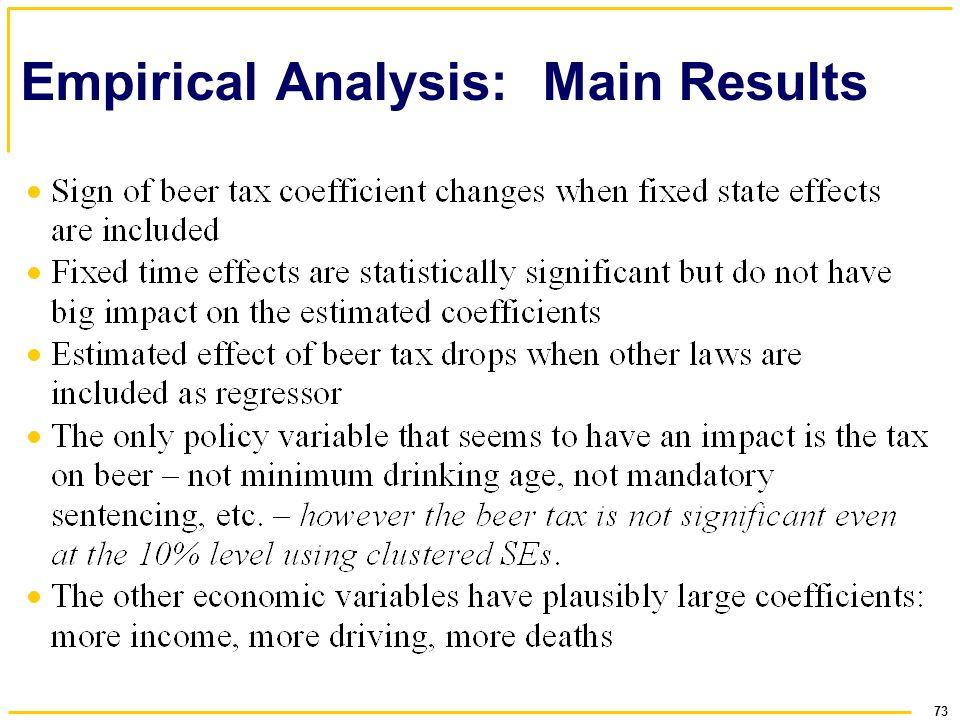 Empirical Analysis: Main Results