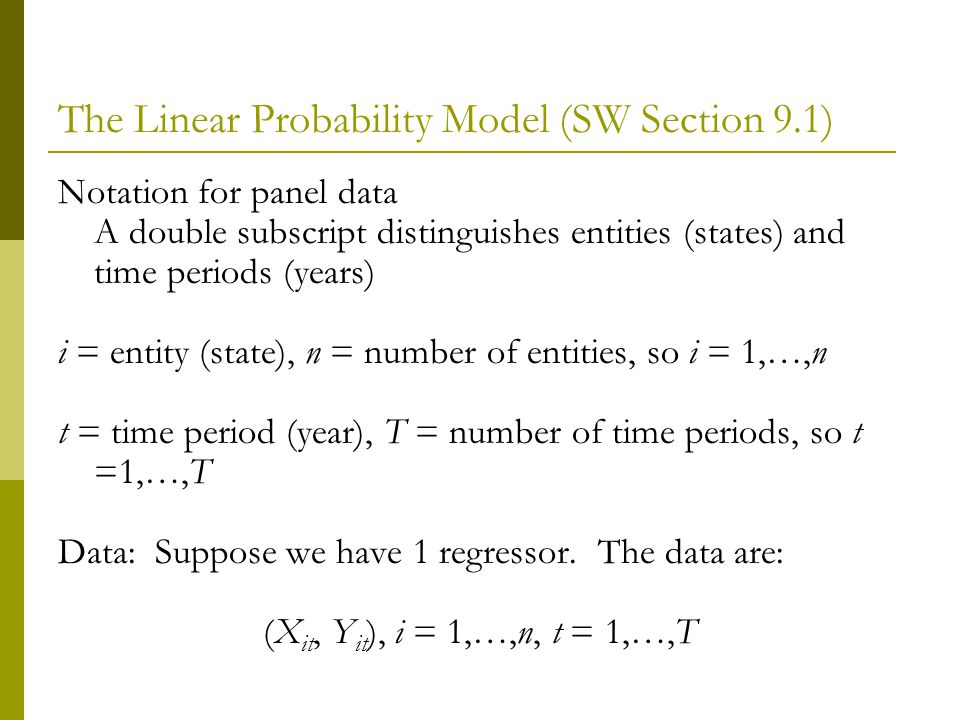 The Linear Probability Model (SW Section 9.1)