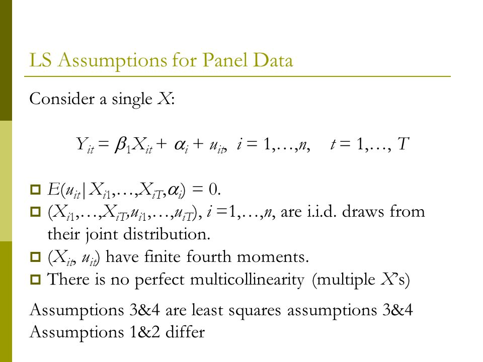 LS Assumptions for Panel Data