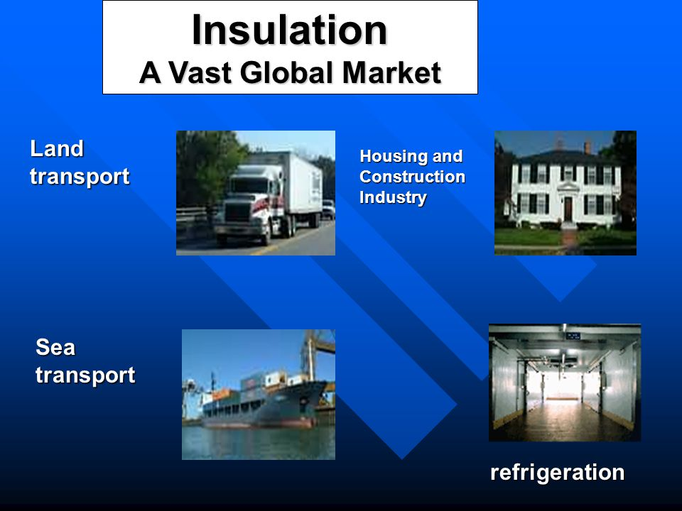 Insulation A Vast Global Market Land transport Sea transport