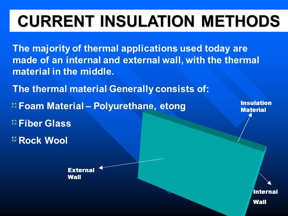 CURRENT INSULATION METHODS