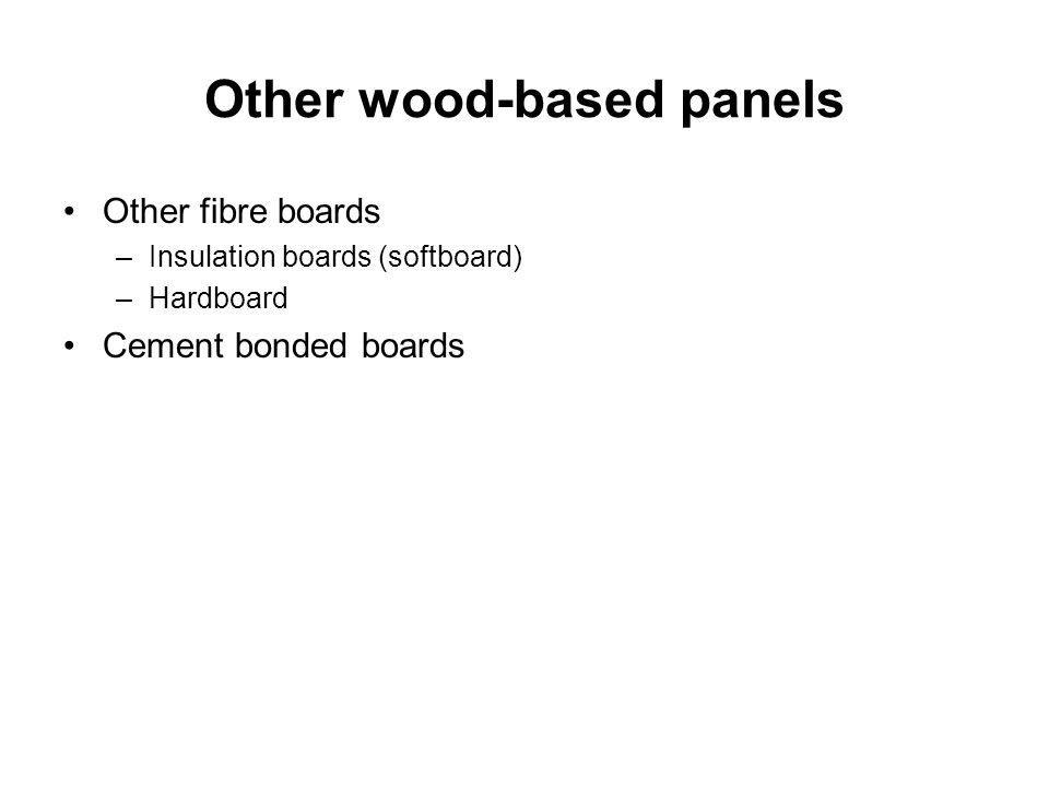 Other wood-based panels