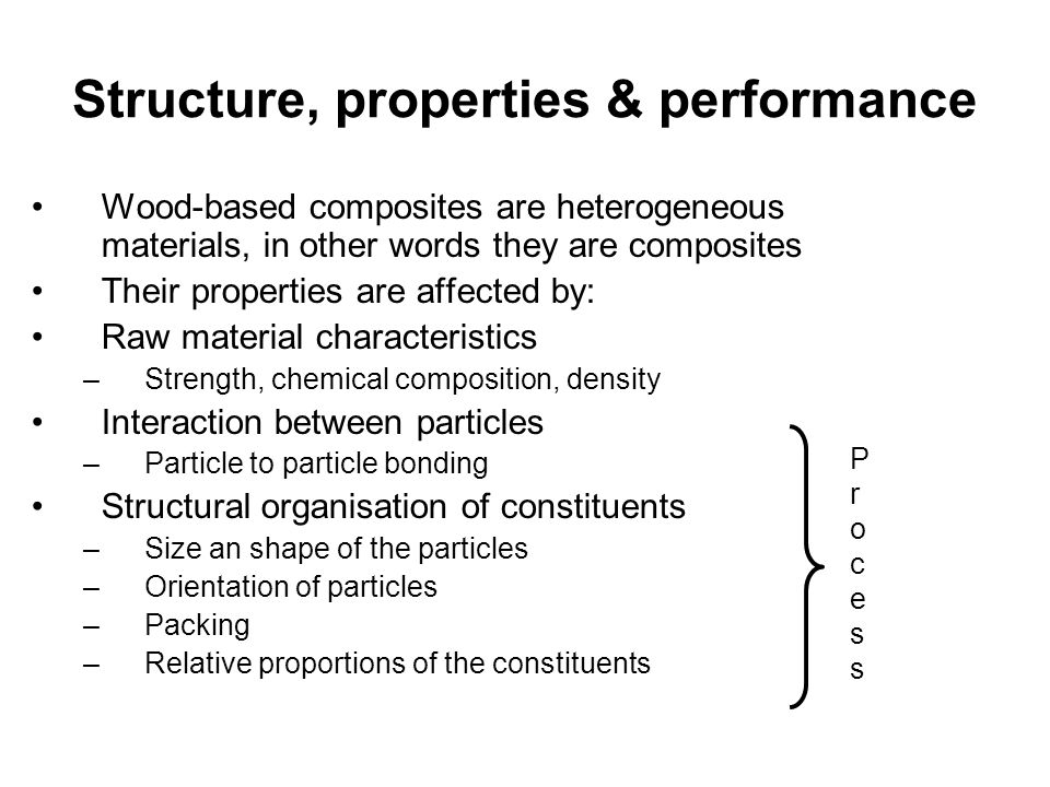 Structure, properties & performance