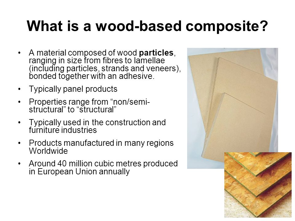 What is a wood-based composite