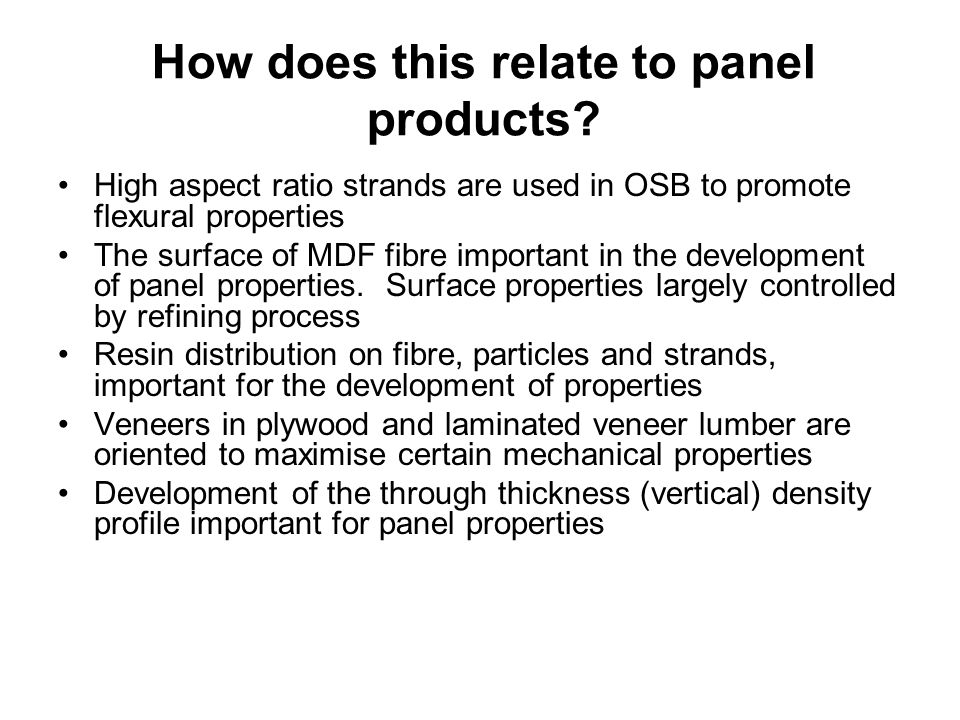 How does this relate to panel products