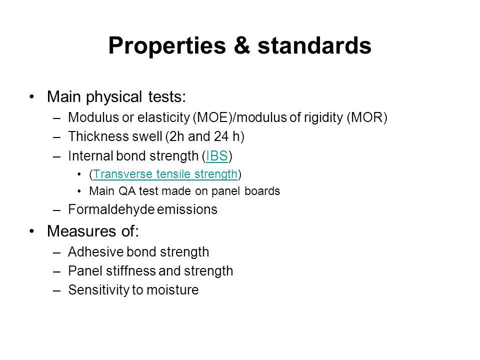 Properties & standards