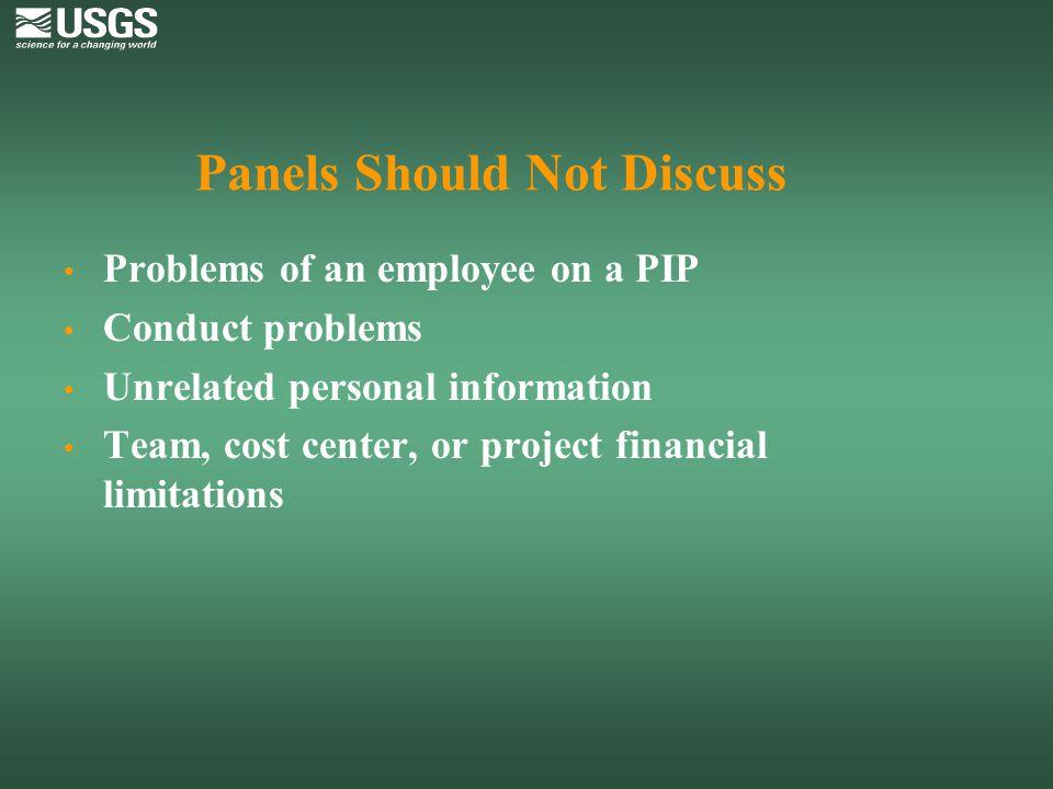 Panels Should Not Discuss