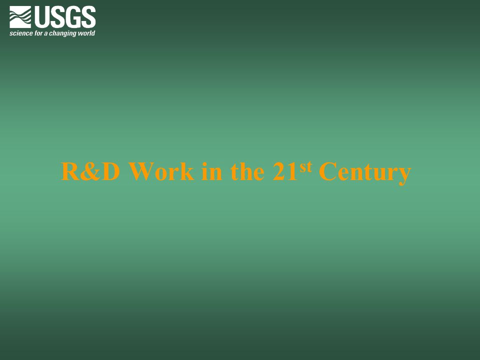R&D Work in the 21st Century