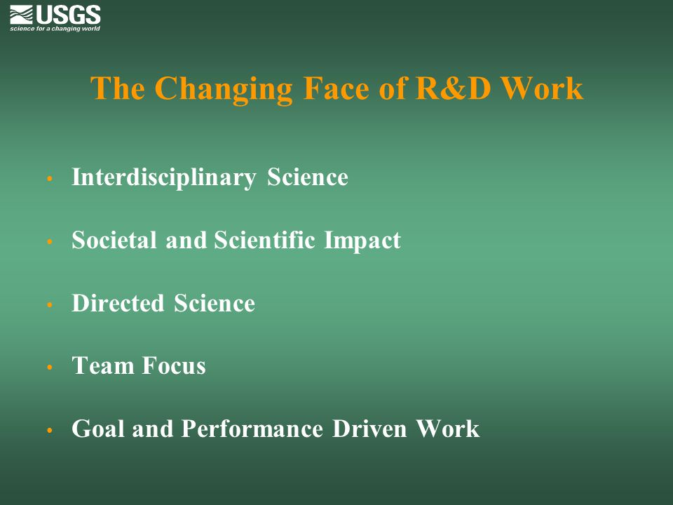 The Changing Face of R&D Work