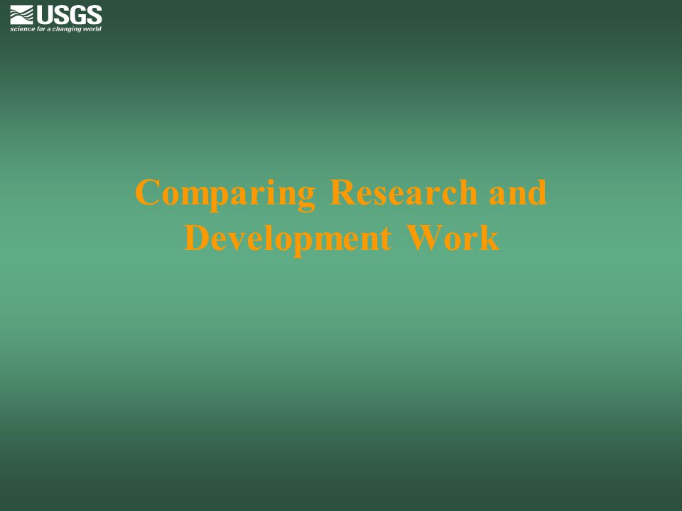 Comparing Research and Development Work