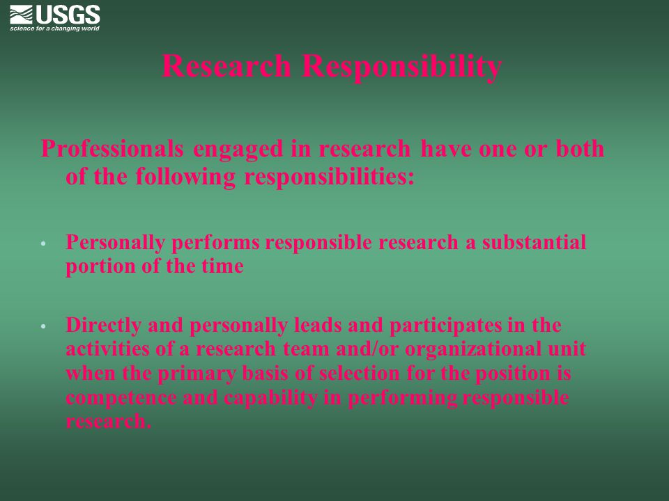 Research Responsibility