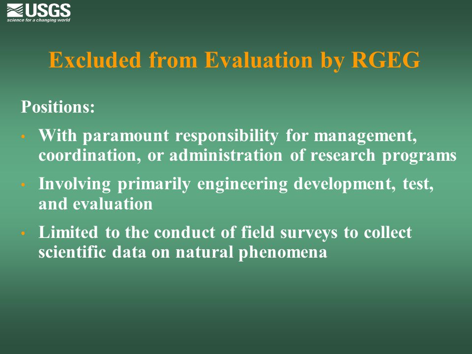 Excluded from Evaluation by RGEG