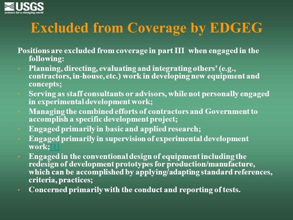 Excluded from Coverage by EDGEG