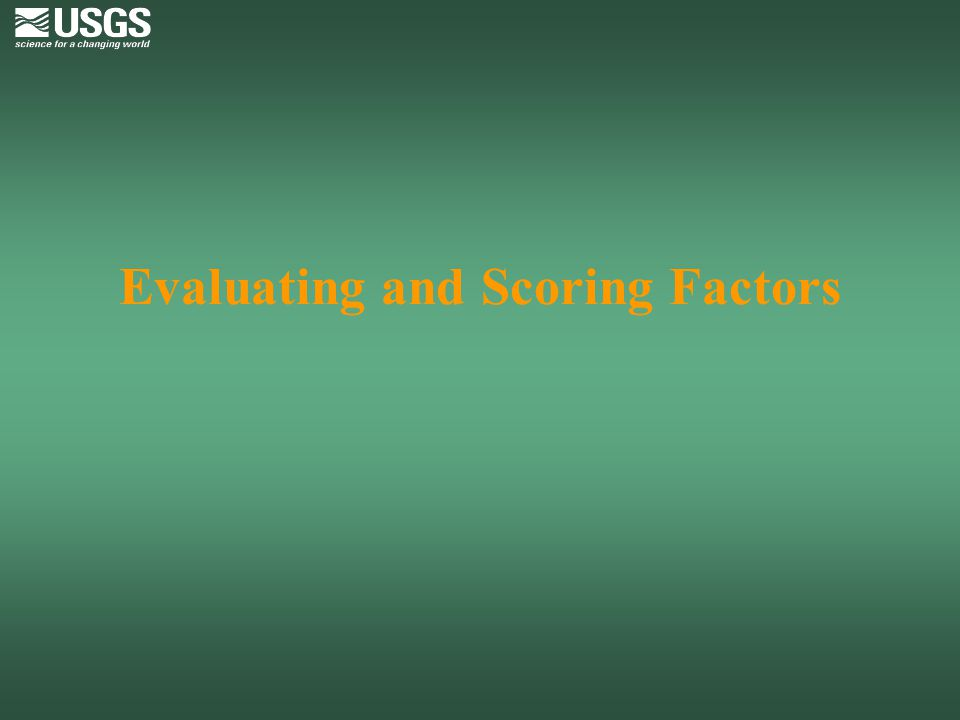 Evaluating and Scoring Factors