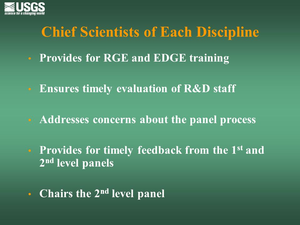 Chief Scientists of Each Discipline