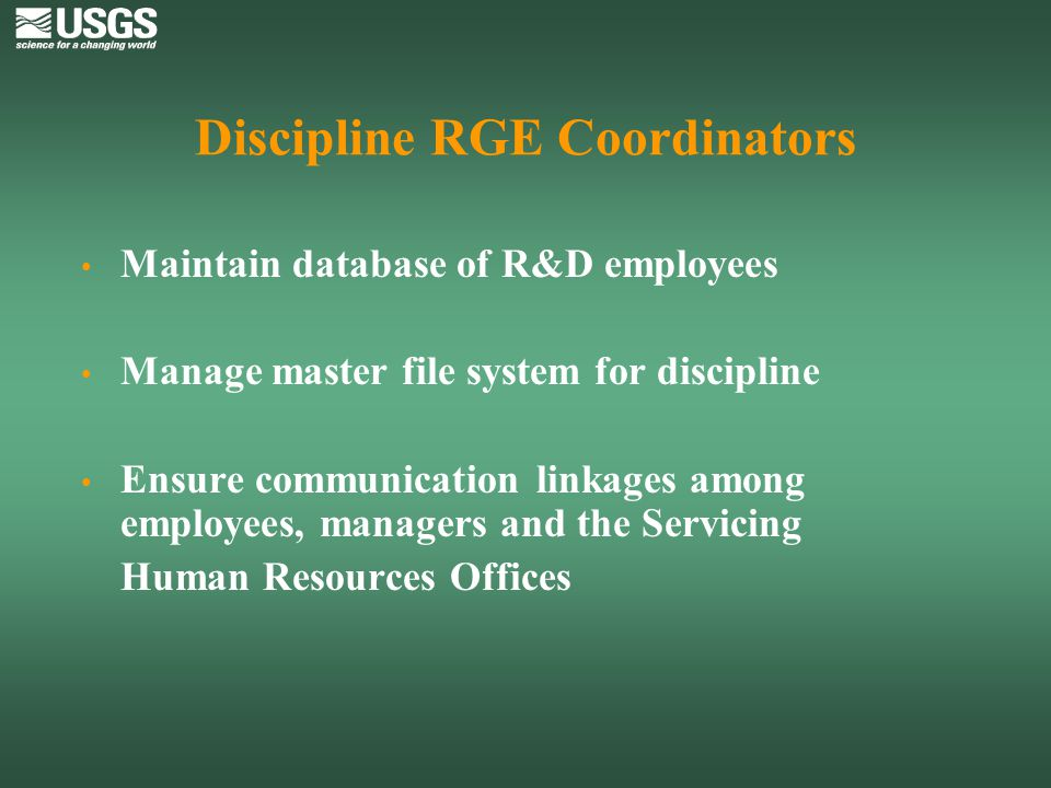 Discipline RGE Coordinators
